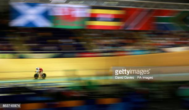 Wales Owain Doull during the Men's 4000m Individual Pursuit at the Sir Chris Hoy Velodrome during the 2014 Commonwealth Games in Glasgow