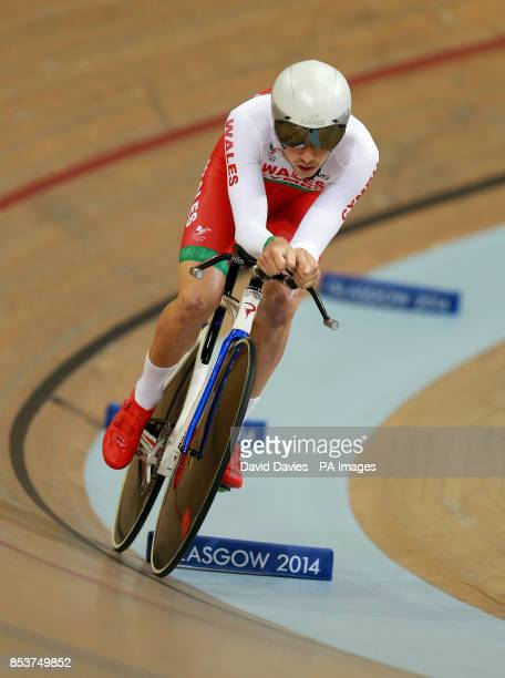 Wales' Owain Doull in the Men's 4000m Individual Pursuit at the Sir Chris Hoy Velodrome during the 2014 Commonwealth Games in Glasgow