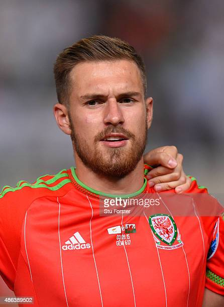Wales player Aaron Ramsey pictured before the UEFA EURO 2016 Qualifier between Cyprus and Wales at GPS Stadium on September 3 2015 in Nicosia Cyprus