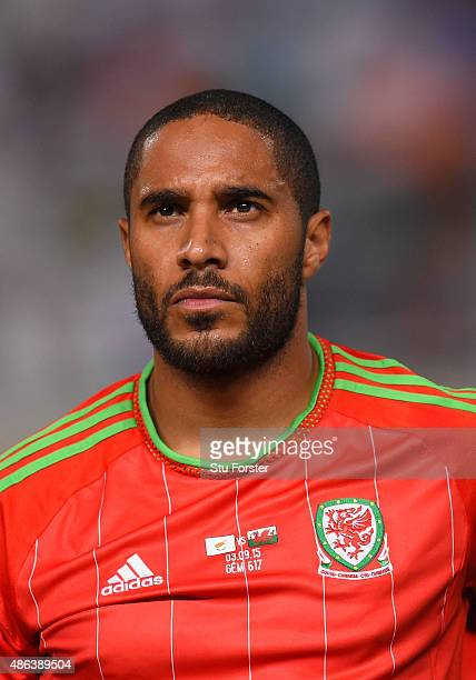 Wales player Ashley Williams pictured before the UEFA EURO 2016 Qualifier between Cyprus and Wales at GPS Stadium on September 3 2015 in Nicosia...