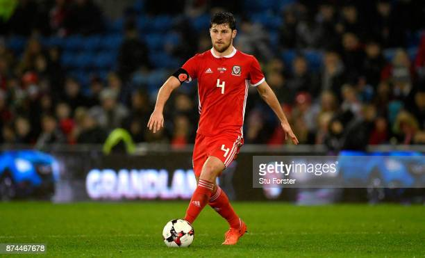 Wales player Ben Davies in action during the International Friendly match between Wales and Panama at Cardiff City Stadium on November 14 2017 in...