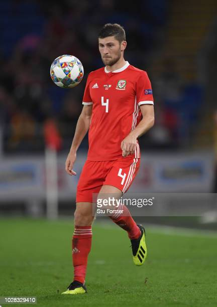 Wales player Ben Davies in action during the UEFA Nations League B group four match between Wales and Republic of Ireland at Cardiff City Stadium on...