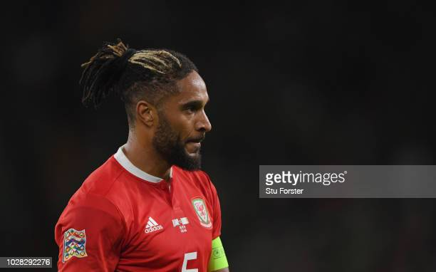 Wales player captain Ashley Williams pictured during the UEFA Nations League B group four match between Wales and Republic of Ireland at Cardiff City...
