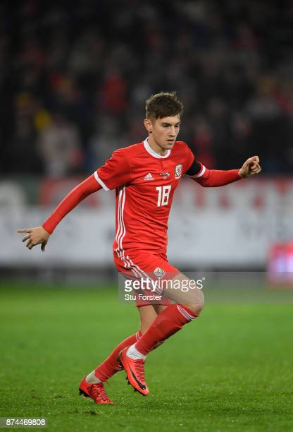 Wales player David Brooks in action during the International Friendly match between Wales and Panama at Cardiff City Stadium on November 14 2017 in...