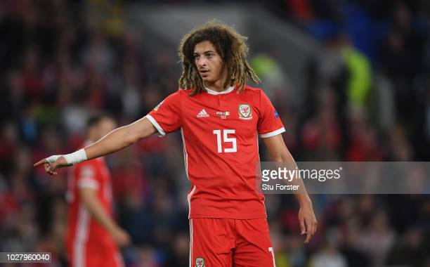 Wales player Ethan Ampadu in action during the UEFA Nations League B group four match between Wales and Republic of Ireland at Cardiff City Stadium...