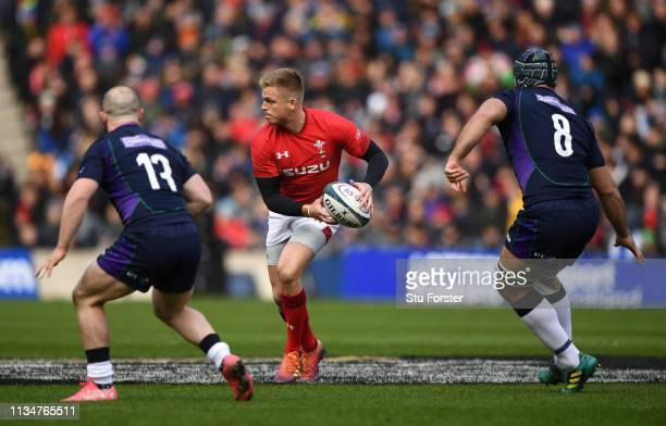 Wales player Gareth Anscombe in action during the Guinness Six Nations match between Scotland and Wales at Murrayfield on March 09 2019 in Edinburgh...