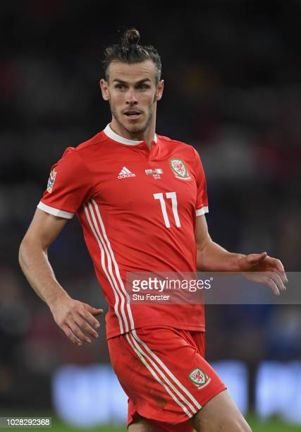 Wales player Gareth Bale in action during the UEFA Nations League B group four match between Wales and Republic of Ireland at Cardiff City Stadium on...