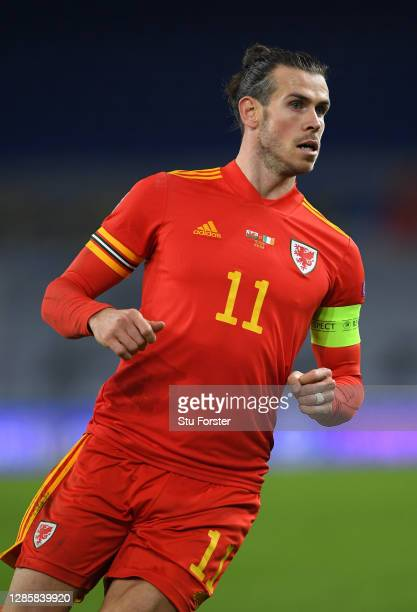 Wales player Gareth Bale in action during the UEFA Nations League group stage match between Wales and Republic of Ireland at Cardiff City Stadium on...