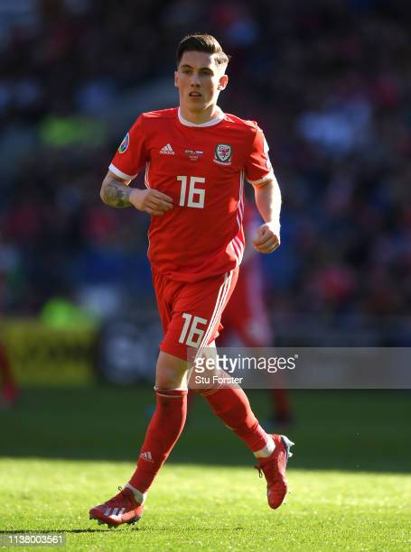 Wales player Harry Wilson in action during the 2020 UEFA European Championships group qualifying match between Wales and Slovakia at Cardiff City...