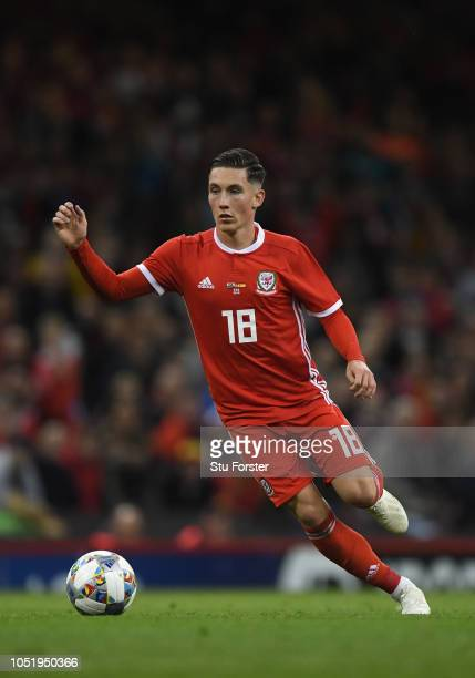 Wales player Harry Wilson in action during the International Friendly match between Wales and Spain on October 11 2018 in Cardiff United Kingdom