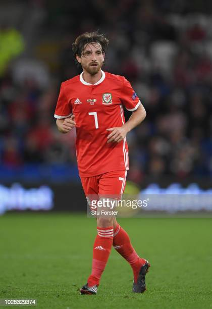 Wales player Joe Allen in action during the UEFA Nations League B group four match between Wales and Republic of Ireland at Cardiff City Stadium on...