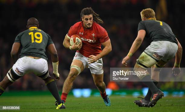 Wales player Josh Navidi in action during the International between Wales and South Africa at at Principality Stadium on December 2 2017 in Cardiff...