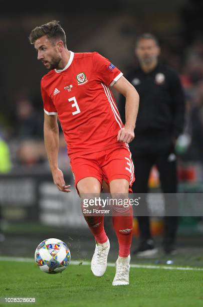 Wales player Paul Dummett in action during the UEFA Nations League B group four match between Wales and Republic of Ireland at Cardiff City Stadium...