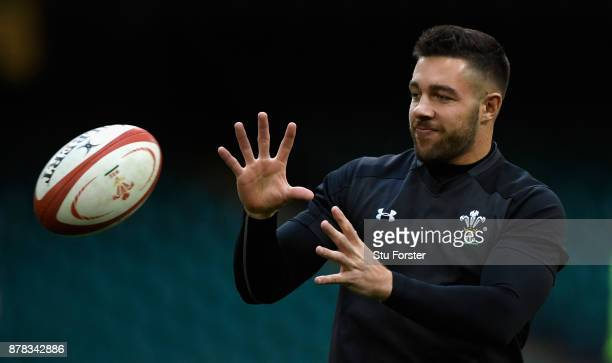 Wales player Rhys Webb in action during training ahead of their International tomorrow against The New Zealand All Blacks at Principality Stadium on...