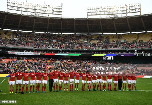 Wales prepares to play South Africa in a Rugby Union international test match at RFK Stadium in Washington DC on June 2 2018