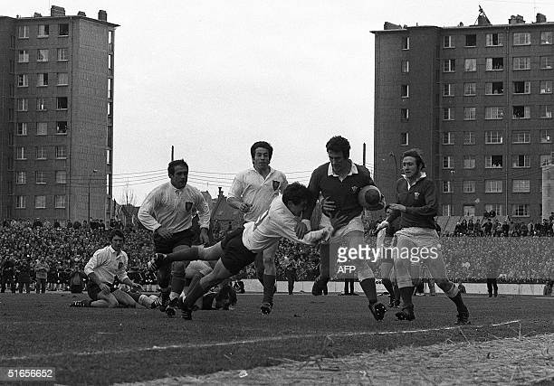 Wales rugby team plays against France in the Five Nations Tournament 27 March 1971 in Colombes a suburb of Paris Wales beat France 95