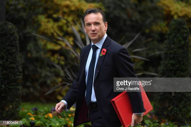 Wales Secretary Alun Cairns arrives at 10 Downing Street for a cabinet meeting on November 5 2019 in London England The UK's main parties are gearing...