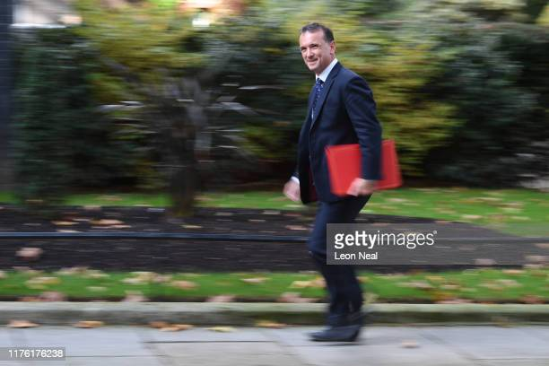 Wales Secretary Alun Cairns arrives at Downing Street on October 16 2019 in London England UK and EU negotiators continue to try to reach a...