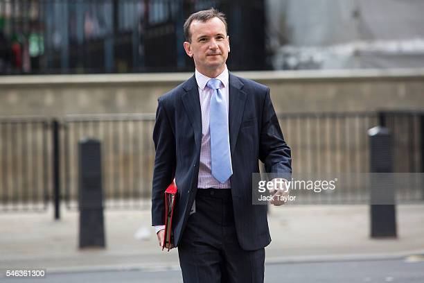 Wales Secretary Alun Cairns arrives for David Cameron's final cabinet meeting as Prime Minister at Downing Street on July 12 2016 in London England...