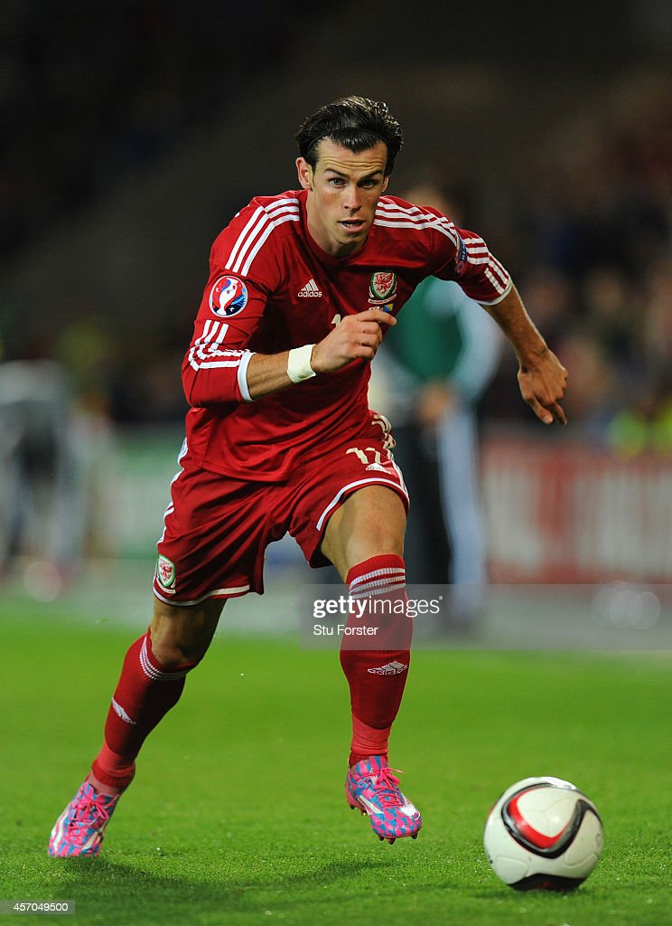 Wales striker Gareth Bale in action during the EURO 2016 Qualifier match between Wales and Bosnia and Herzegovina at Cardiff City Stadium on October 10, 2014 in Cardiff, Wales.