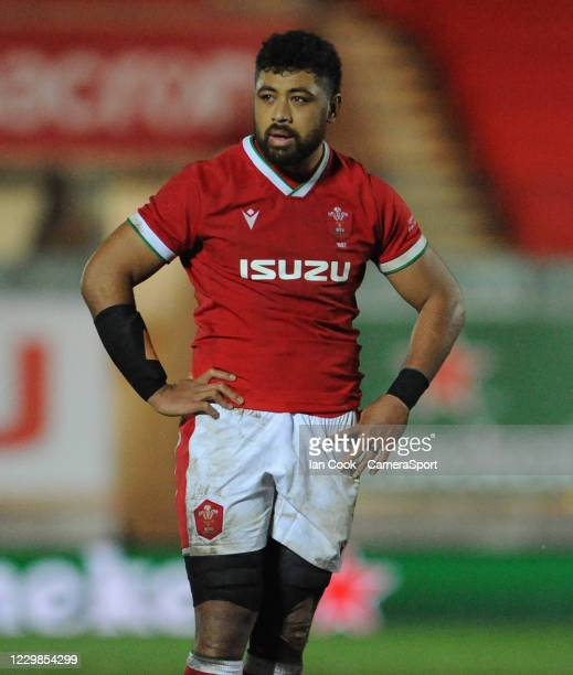 Wales Taulupe Faletau during the Quilter International match between Wales and England as part of the Autumn Nations Cup at Parc y Scarlets on...