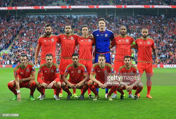 Wales Team group Back LR Joe Ledley Hal RobsonKanu James Chester Wayne Hennessey Ashley Williams Ashley Richards Front LR Gareth Bale Aaron Ramsey...