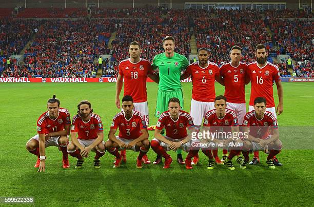 Wales team group before the 2018 FIFA World Cup Group D qualifying match between Wales and Moldova at Cardiff City Stadium on September 5 2016 in...
