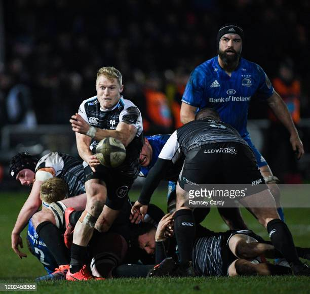Wales United Kingdom 21 February 2020 Aled Daviesof Ospreys during the Guinness PRO14 Round 12 match between Ospreys and Leinster at The Gnoll in...