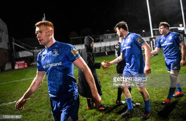 Wales United Kingdom 21 February 2020 Ciarán Frawley of Leinster following the Guinness PRO14 Round 12 match between Ospreys and Leinster at The...