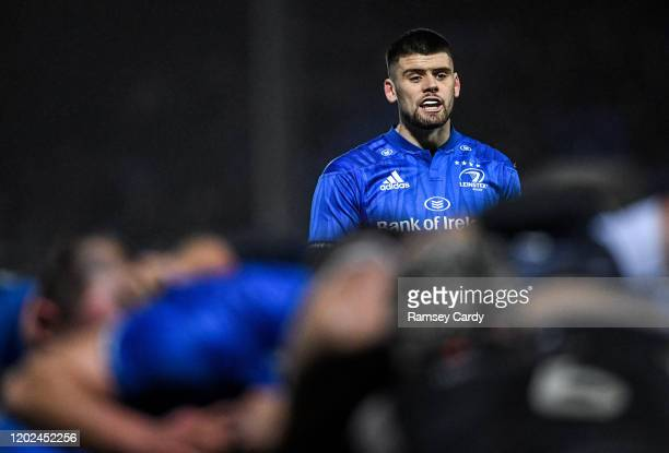 Wales United Kingdom 21 February 2020 Harry Byrne of Leinster during the Guinness PRO14 Round 12 match between Ospreys and Leinster at The Gnoll in...