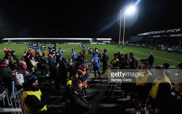 Wales United Kingdom 21 February 2020 Hugo Keenan of Leinster ahead of the Guinness PRO14 Round 12 match between Ospreys and Leinster at The Gnoll in...