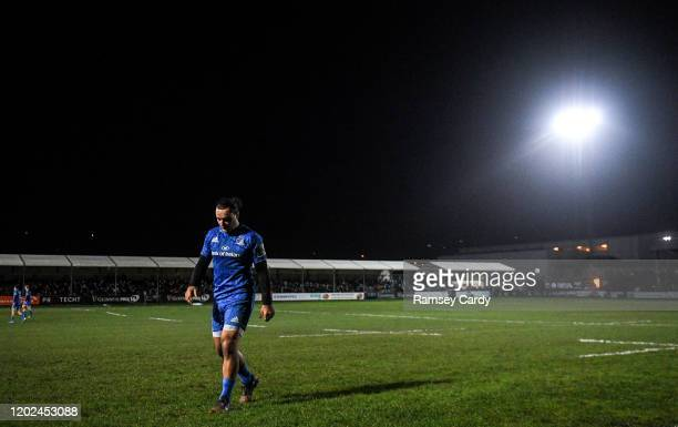 Wales United Kingdom 21 February 2020 James Lowe of Leinster during the Guinness PRO14 Round 12 match between Ospreys and Leinster at The Gnoll in...