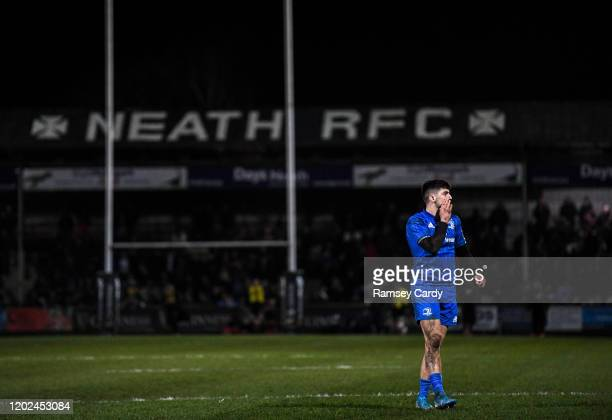 Wales United Kingdom 21 February 2020 Jimmy O'Brien of Leinster during the Guinness PRO14 Round 12 match between Ospreys and Leinster at The Gnoll in...