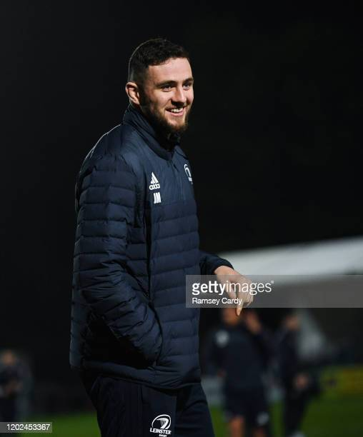 Wales United Kingdom 21 February 2020 Josh Murphy of Leinster ahead of the Guinness PRO14 Round 12 match between Ospreys and Leinster at The Gnoll in...