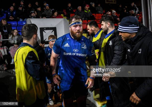 Wales United Kingdom 21 February 2020 Michael Bent of Leinster during the Guinness PRO14 Round 12 match between Ospreys and Leinster at The Gnoll in...