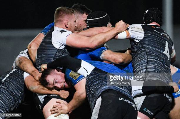 Wales United Kingdom 21 February 2020 Peter Dooley of Leinster during the Guinness PRO14 Round 12 match between Ospreys and Leinster at The Gnoll in...