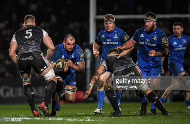 Wales United Kingdom 21 February 2020 Rhys Ruddock of Leinster during the Guinness PRO14 Round 12 match between Ospreys and Leinster at The Gnoll in...