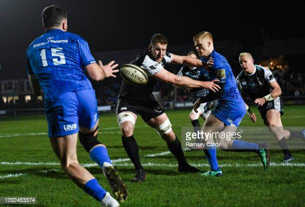 Wales United Kingdom 21 February 2020 Tommy O'Brien of Leinster during the Guinness PRO14 Round 12 match between Ospreys and Leinster at The Gnoll in...