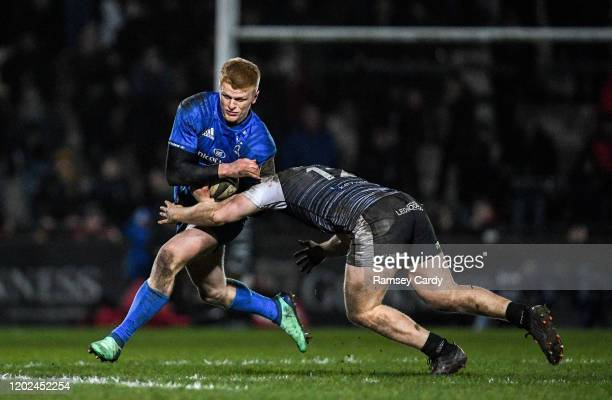 Wales United Kingdom 21 February 2020 Tommy O'Brien of Leinster in action against Kieran Williams of Ospreys during the Guinness PRO14 Round 12 match...