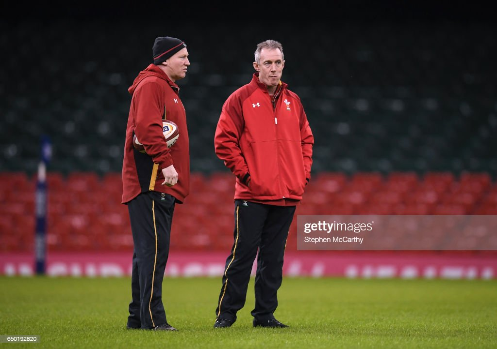 Wales Rugby Squad Captain's Run and Press Conference : News Photo