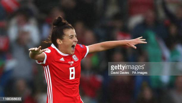 Wales's Angharad James during the UEFA Women's Euro 2021 Qualifying Group C match at Rodney Parade Newport