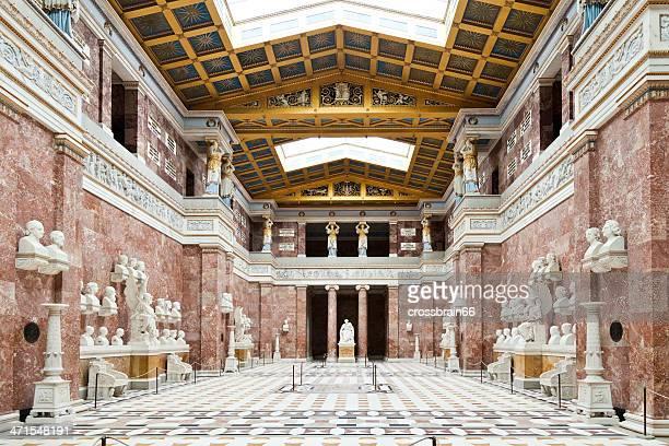 Walhalla hall of fame interior in Germany Donaustauf