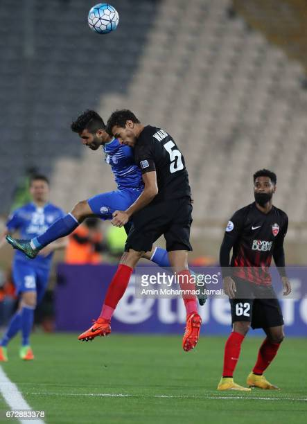 Walid Abbas of Al Ahli in action during AFC Champions League match between Esteghlal vs Al Ahli FC at Azadi Stadium on April 25 2017 in Tehran Iran