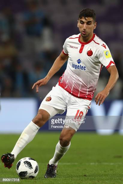 Walid El Karti of Wydad Casablanca in action during the FIFA Club World Cup UAE 2017 fifth place playoff match between Wydad Casablanca and Urawa...
