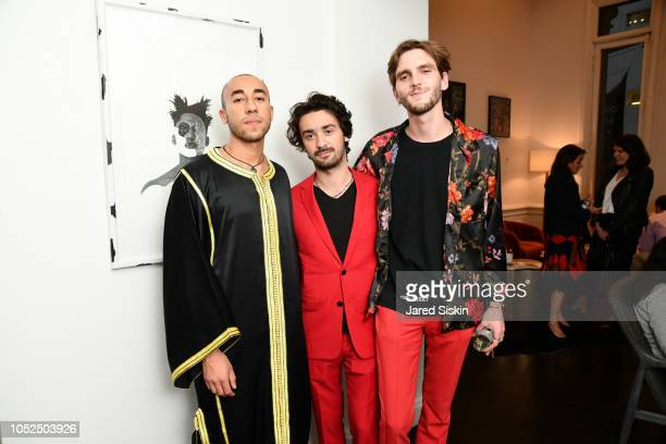 Walid LayadiMarfouk Adrien Boublil and Emile Camus attend Roni Willett And Walid LayadiMarfouk Host UN General Assembly Exhibition Africa House...