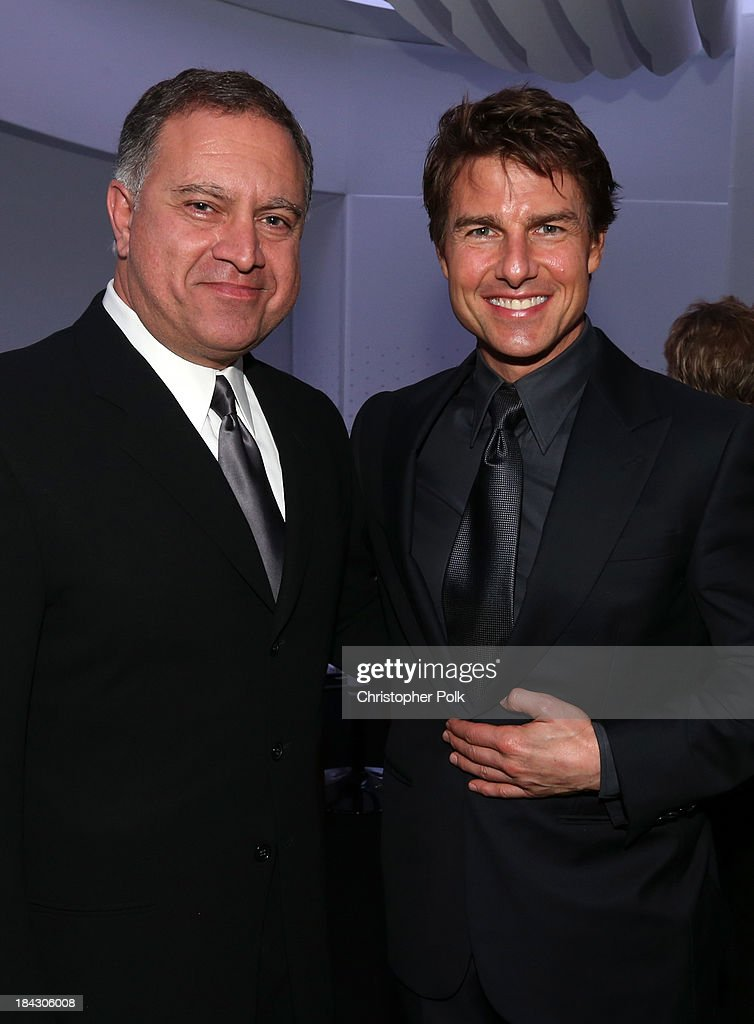 Walid Saba, Head of Marketing Design, Chrysler Group LLC. and actor Tom Cruise attend 'Hugh Jackman... One Night Only' Benefiting MPTF at Dolby Theatre on October 12, 2013 in Hollywood, California.