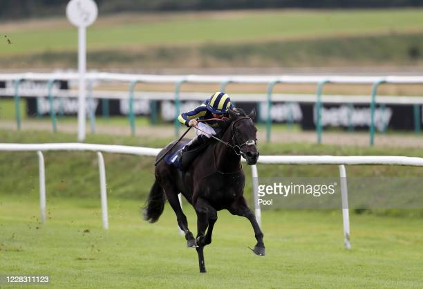 Waliyak ridden by Ray Dawson on their way to winning the Betway Fillies' Handicap at Lingfield Park racecourse on September 2 2020 in Lingfield...