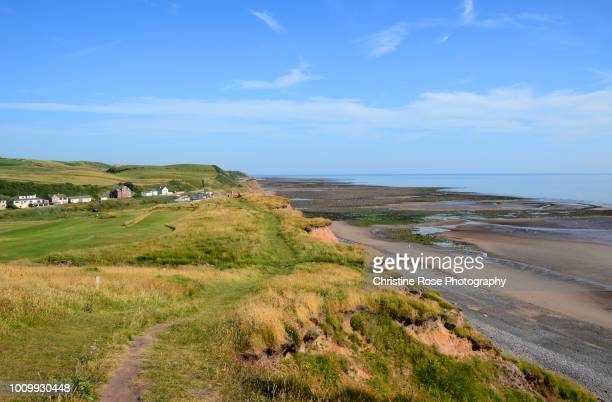 a walk along the coastal path - irish sea stock pictures, royalty-free photos & images