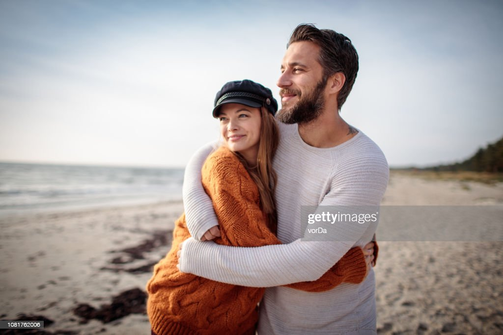 Walk by the Beach : Stock Photo