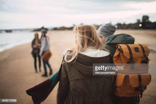 Promenade au bord de la mer